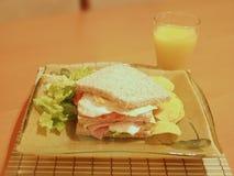 Sanduíche do Wholemeal Foto de Stock Royalty Free