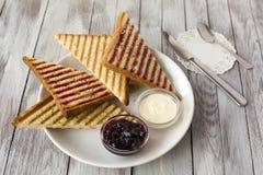 Sanduíche doce com chocolate Imagens de Stock