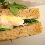 Sanduíche dos salmões e dos ovos foto de stock royalty free