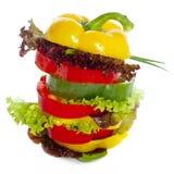Sanduíche dos vegetais foto de stock royalty free