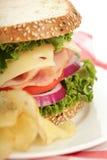 Sanduíche e microplaquetas Imagem de Stock Royalty Free