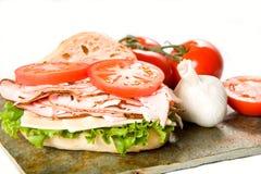 Sanduíche e vegetais de turquia Fotos de Stock Royalty Free