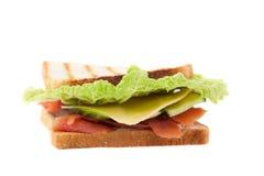 Sanduíche em um fundo branco Imagens de Stock Royalty Free