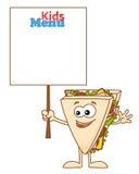 Sanduíche engraçado Fotografia de Stock