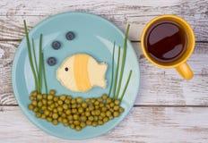 Sanduíche engraçado para crianças Imagens de Stock
