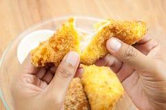 Sanduíche fritado Foto de Stock