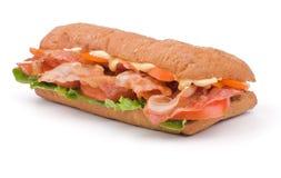 Sanduíche grande de Ciabatta Imagem de Stock