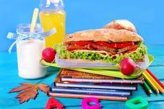 Sanduíche grande para o café da manhã da escola Imagens de Stock Royalty Free