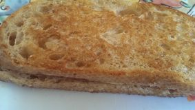 Sanduíche grelhado do queijo Imagem de Stock