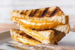 Sanduíche grelhado do queijo fotos de stock royalty free