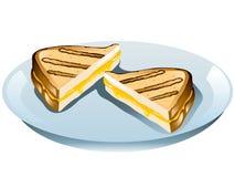 Sanduíche grelhado do queijo ilustração stock