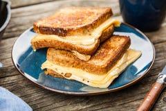 Sanduíche grelhado do queijo foto de stock royalty free