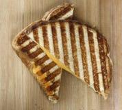 Sanduíche grelhado do queijo de fotografia de stock