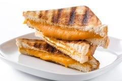 Sanduíche grelhado do queijo isolado fotos de stock