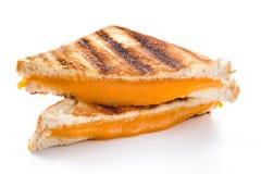 Sanduíche grelhado do queijo isolado fotos de stock royalty free