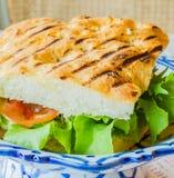 Sanduíche ham&cheese Fotos de Stock