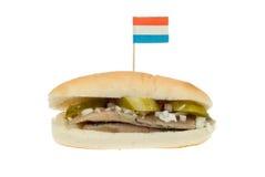 Sanduíche holandês dos arenques Foto de Stock Royalty Free