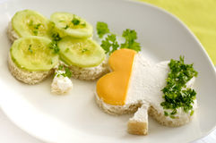 Sanduíche irlandês do trevo Foto de Stock