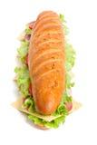 Sanduíche longo do baguette imagens de stock royalty free