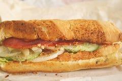 Sanduíche longo do metro do pé pronto para ser comido Foto de Stock Royalty Free