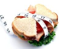 Sanduíche magro Fotos de Stock