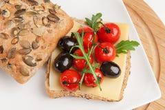 Sanduíche mediterrâneo Imagens de Stock