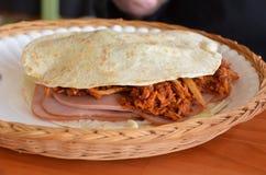 Sanduíche mexicano fotografia de stock