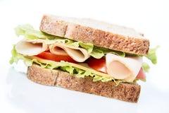 Sanduíche no branco Imagem de Stock