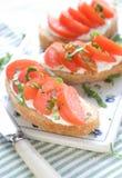 Sanduíche para o pequeno almoço Foto de Stock Royalty Free