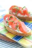 Sanduíche para o pequeno almoço Fotos de Stock Royalty Free