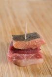 Sanduíche pequeno da carne Imagem de Stock Royalty Free