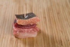 Sanduíche pequeno da carne Fotografia de Stock Royalty Free