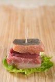 Sanduíche pequeno da carne Foto de Stock Royalty Free