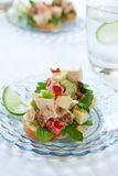Sanduíche picante da salada da galinha Imagem de Stock