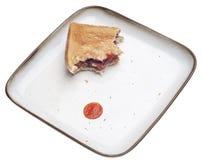 Sanduíche quase comido do hamburguer do vegetariano do feijão preto Imagens de Stock
