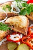 Sanduíche quente Imagem de Stock