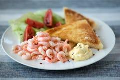 Sanduíche saboroso do camarão Fotos de Stock