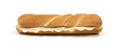 Sanduíche secundário de Turquia e de queijo Fotos de Stock