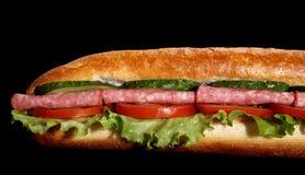 Sanduíche secundário do Salami Imagem de Stock