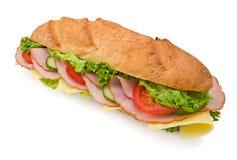 Sanduíche submarino dos pés frescos com presunto e ch Fotografia de Stock