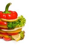 Sanduíche vegetal com limão, salada e salsa. Fotos de Stock Royalty Free