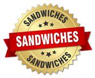 sanduíches ilustração royalty free