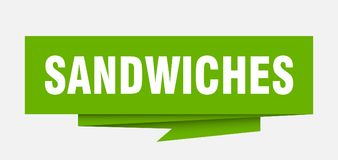 sanduíches ilustração stock