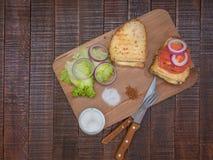 Sanduíches bonitos para o café da manhã Fotografia de Stock Royalty Free
