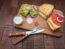 Sanduíches bonitos para o café da manhã Imagem de Stock