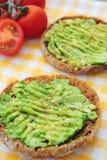 Sanduíches com abacate Imagem de Stock Royalty Free