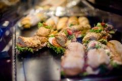 Sanduíches com bacon Fotografia de Stock Royalty Free