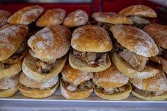 Sanduíches com carne de porco foto de stock royalty free