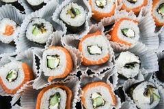 Sanduíches com peixes vermelhos Fotos de Stock