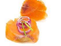 Sanduíches com salmões Imagem de Stock